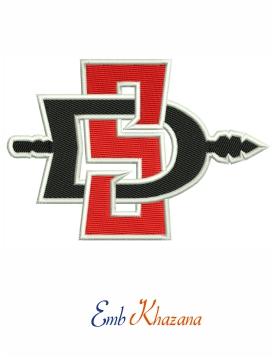 San Diego State Aztecs Logo Embroidery Design Embroidery Logo Conference Logo College Logo