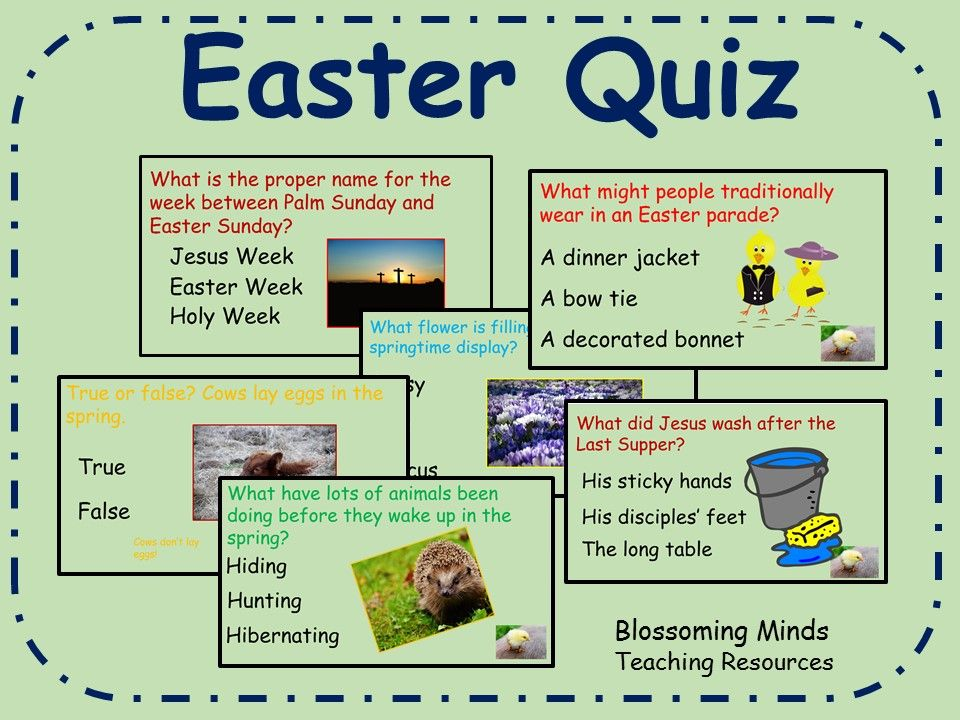 Easter Quiz 60 questions Easter quiz, Easter, Easter