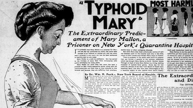 """""""Typhoid Mary"""" whose real name was Mary Mallon was the"""