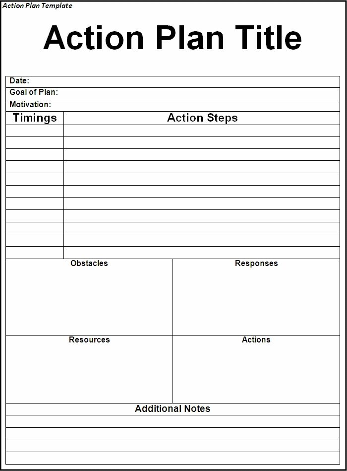 Pin by Techniology on Excel Project Management Templates For - plan of action format