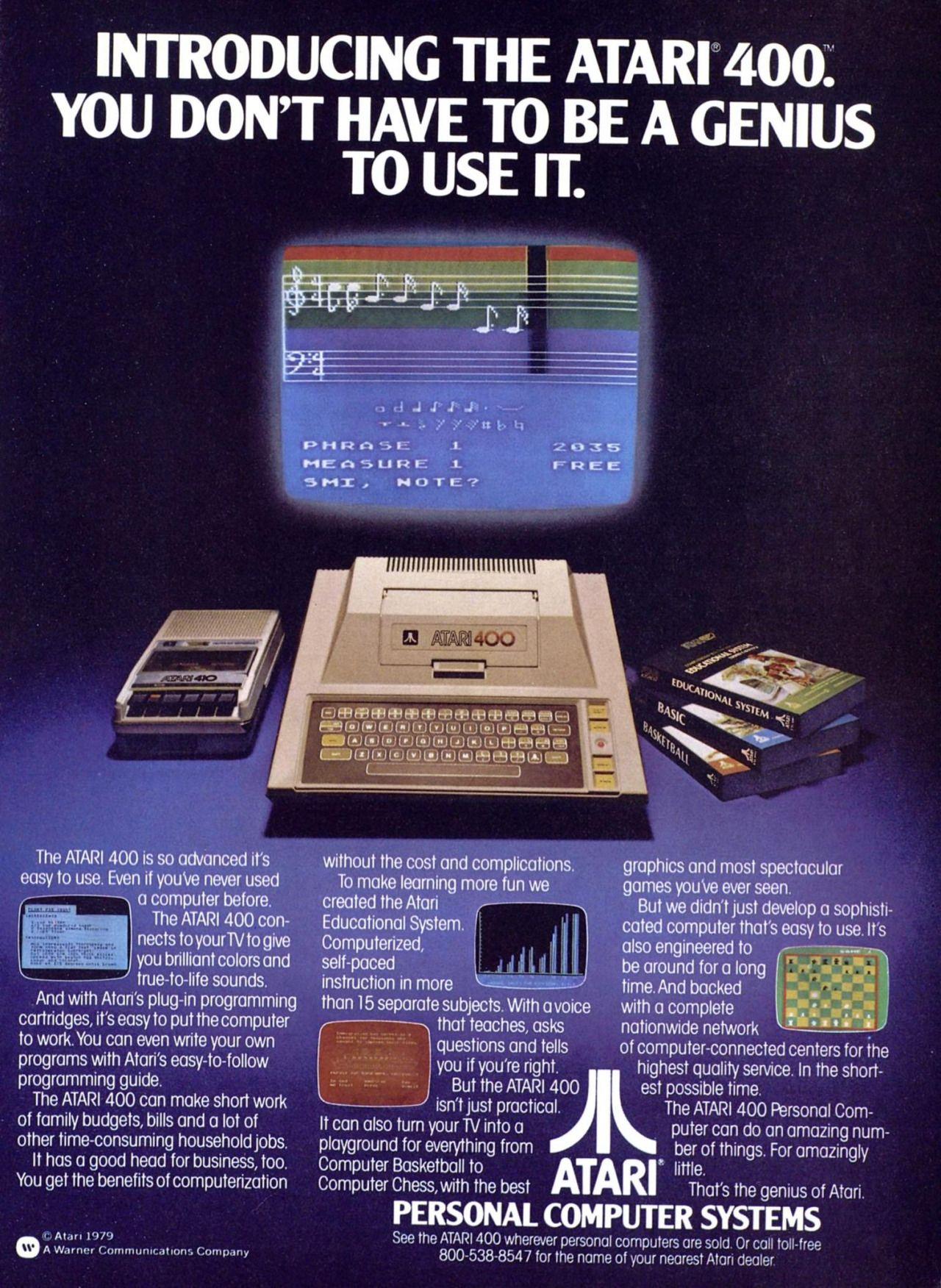 """gameraboy: """" Atari 400, 1979 ad """""""