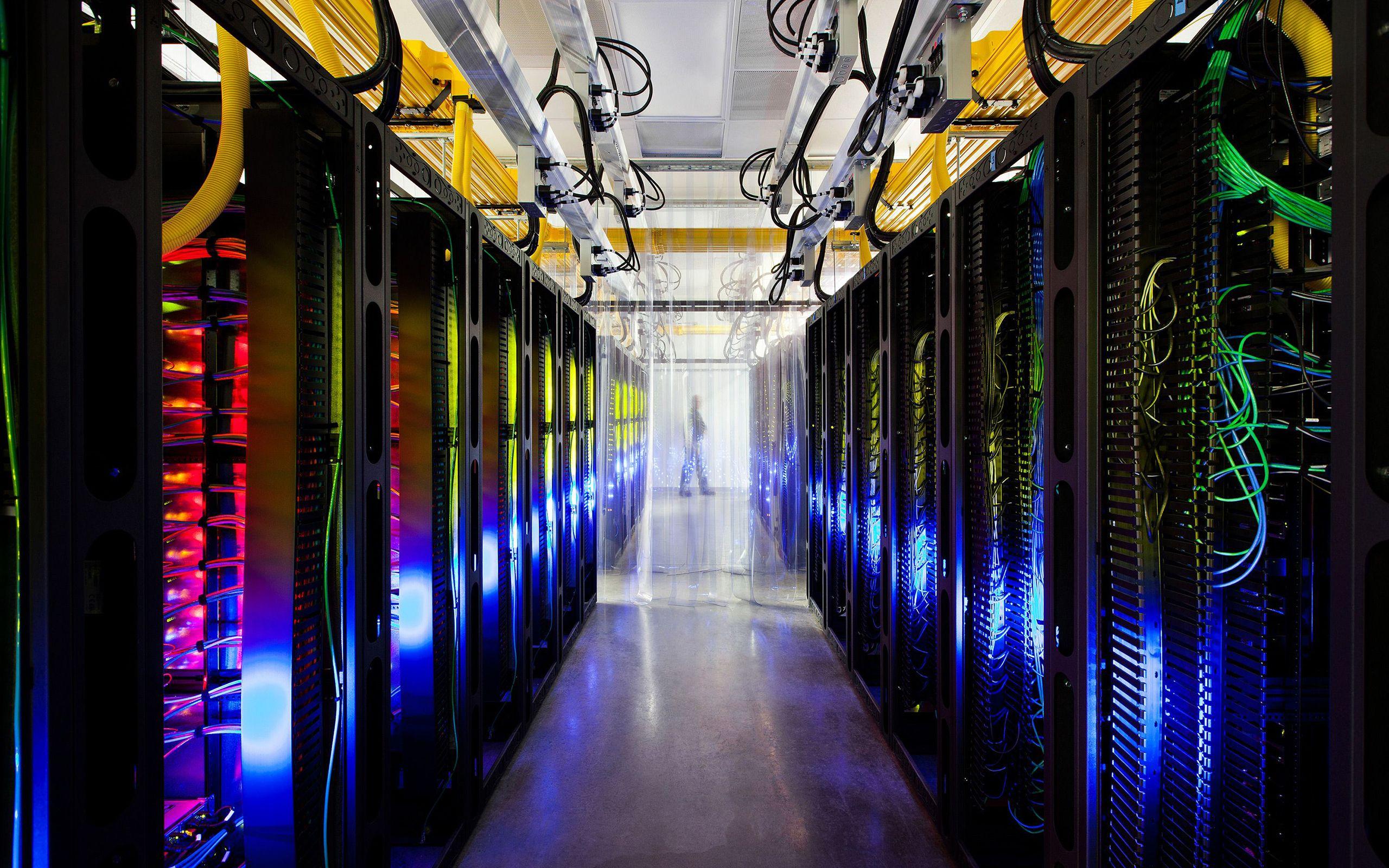 Server Room Wallpaper Data Center Big Data Data