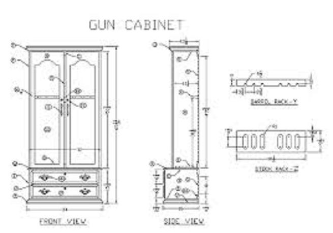 Furniture: Gun Cabinet Plans Design, Build Your Own Gun