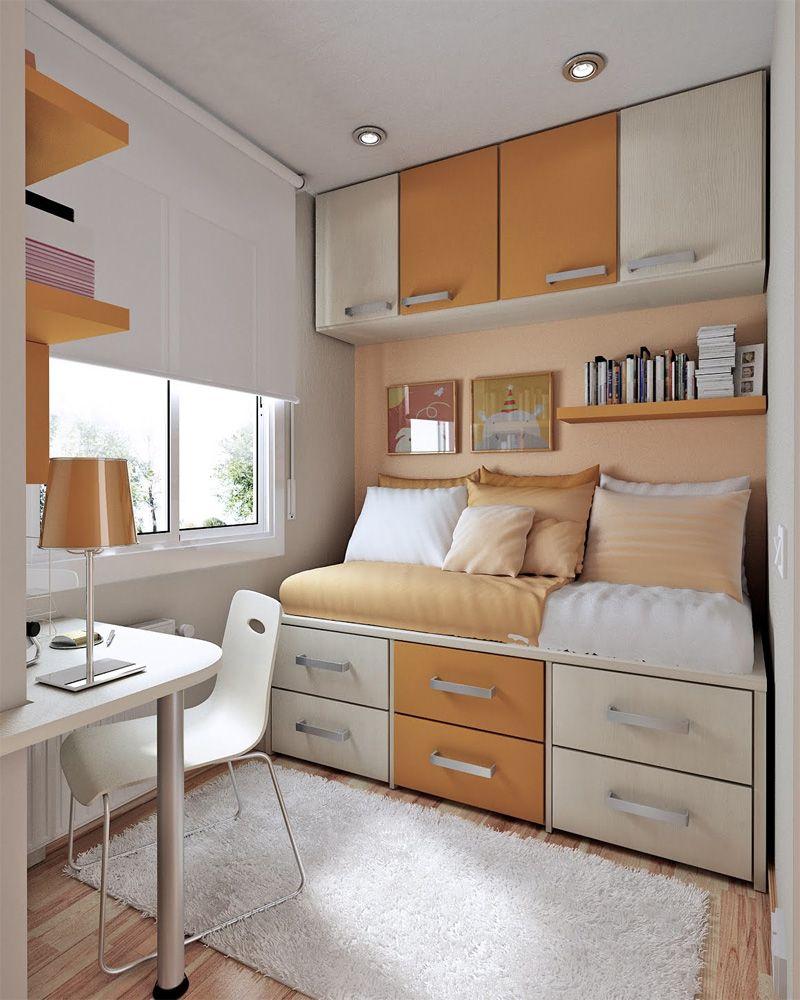 20 Geniales Ideas Para Aprovechar El Espacio En Habitaciones  ~ Amueblar Habitacion Juvenil Pequeña