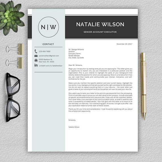 Professional And Modern Resume Template For Word Cv