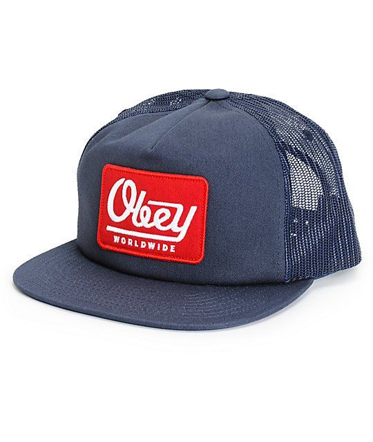 Obey Grave Trucker Hat Zumiez Trucker Hat Trucker Hats