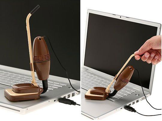Keyboard Vacuum. Cute!