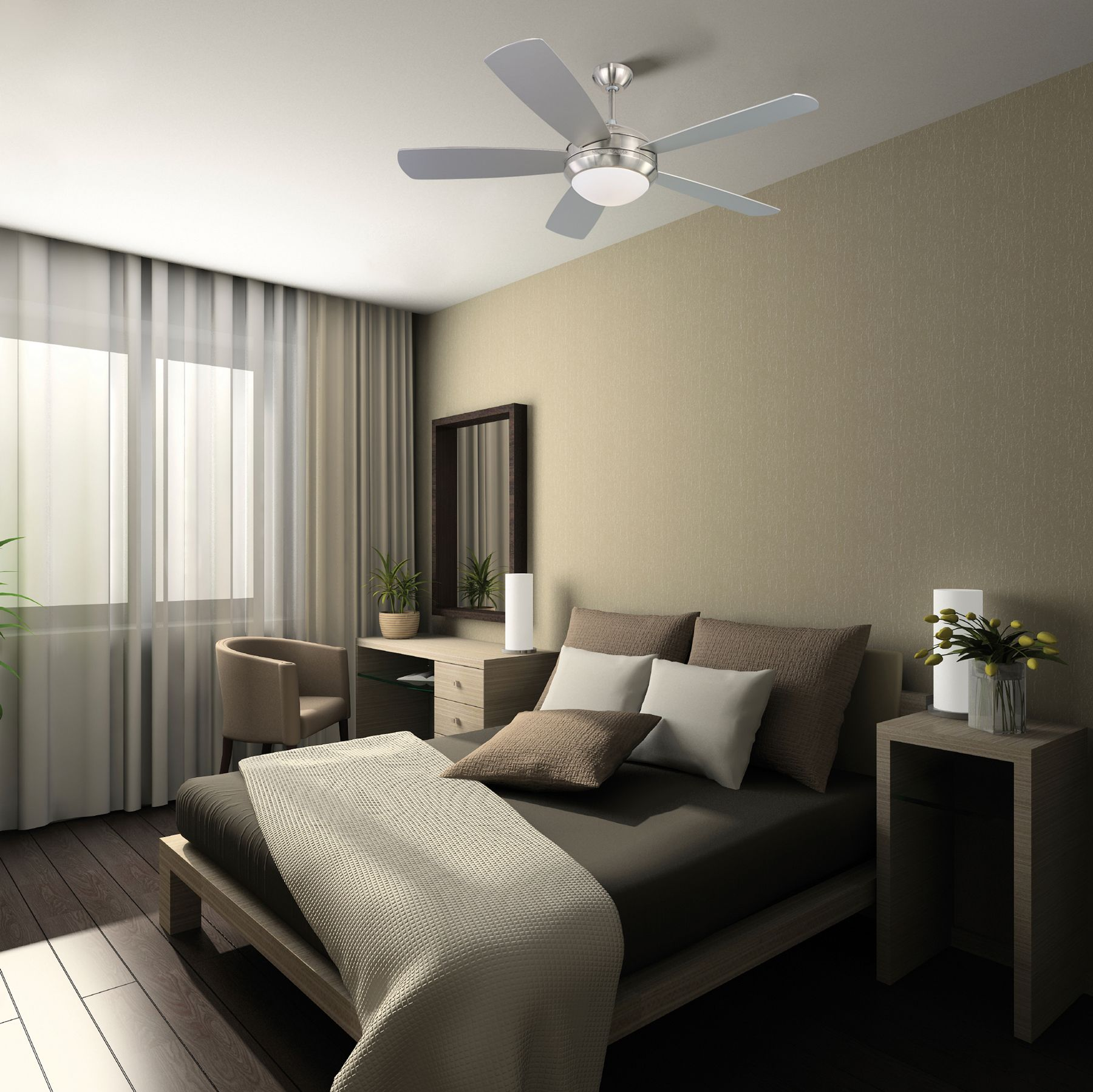 Discus Ceiling Fan Monte Carlo At Lightology Suites Guestrooms  ~ Decoracion Dormitorios Matrimoniales