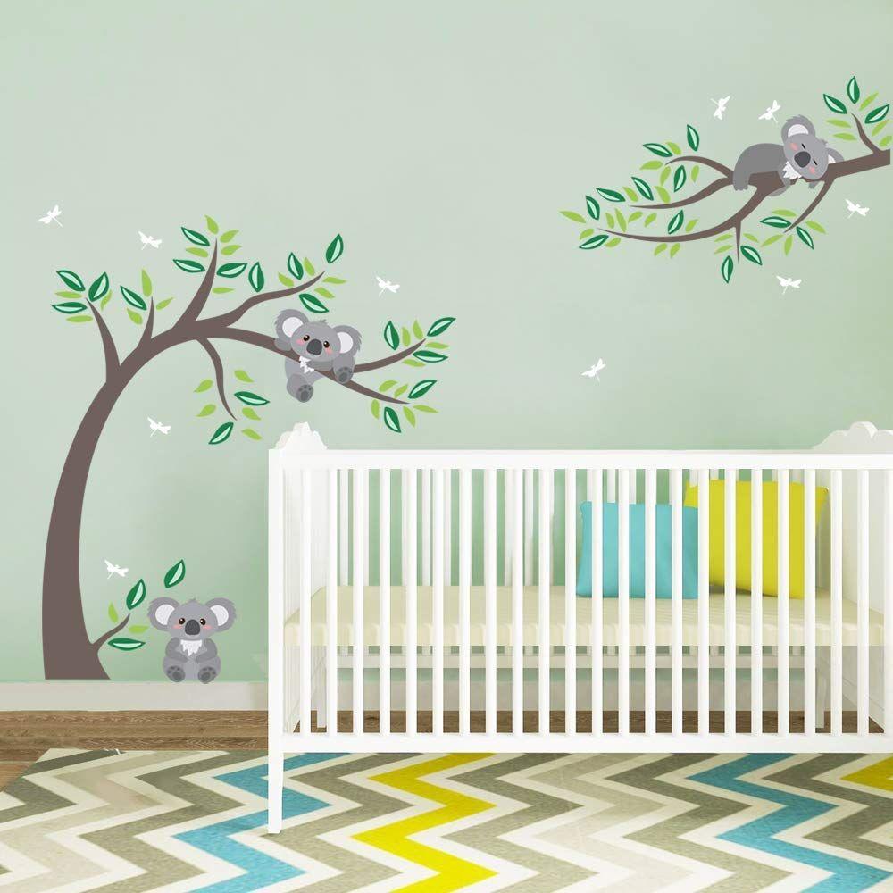 Wandtattoo Koala Baum Wandsticker Koalabär Kinderzimmer