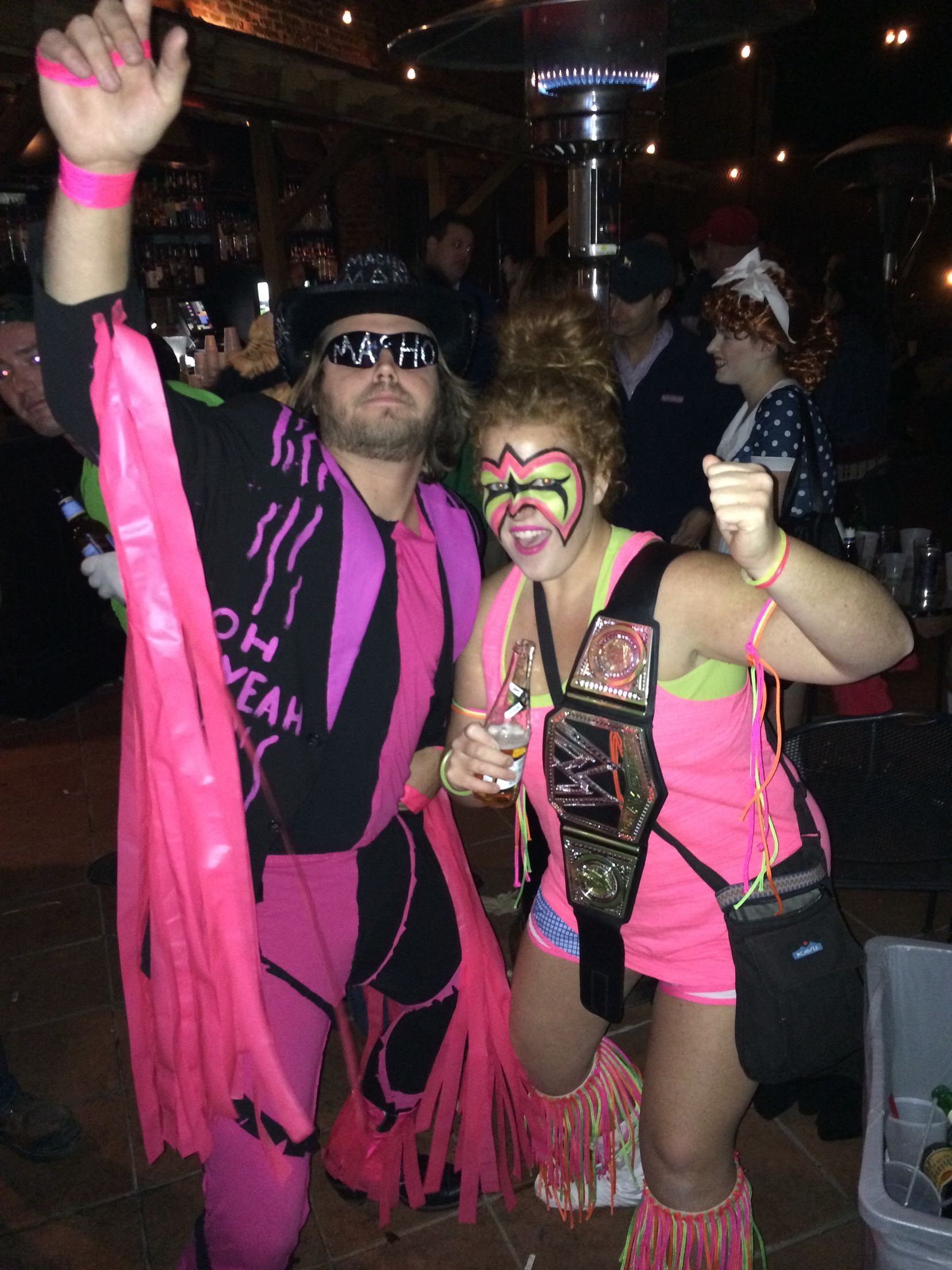 macho man and the ultimate warrior. best halloween costumes ever