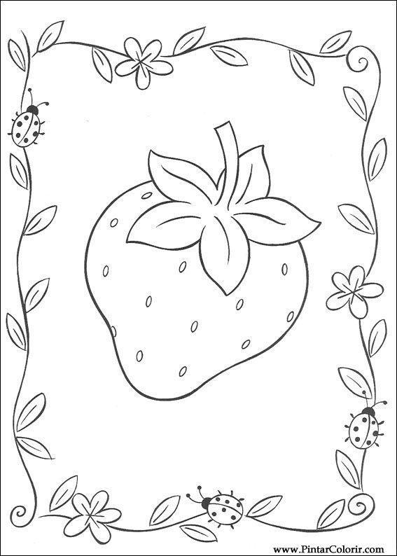 Pintar E Colorir Docinho De Morango Desenho 023 Ausmalbilder Emily Erdbeer Ausmalen
