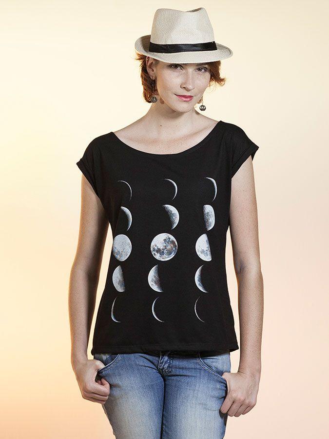 Tall Clothing · Blusa Canoa Fases da Lua e8cacf75a8a