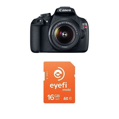 Canon T5 DSLR Camera with 18-55mm Lens + Eyefi Mobi 16GB Wi-Fi Memory Card. See more @  dlsrcamerasandspecialeffectsphotography.com/