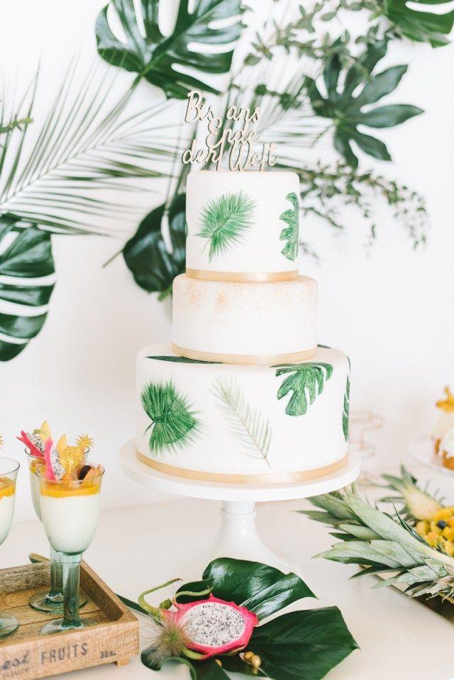 Tropical Wedding Cake Suess Und Salzig Hochzeit Hochzeitstorte