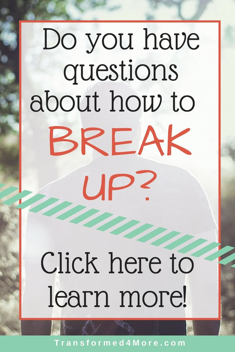 Break Christian Up Dating When To