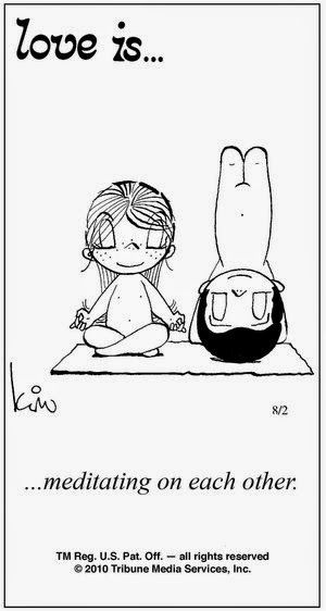Pensamentos, Citações e Coisas do Género... Thoughts, Quotes and Those Sort of Things...: Amor é... meditar um no outro.