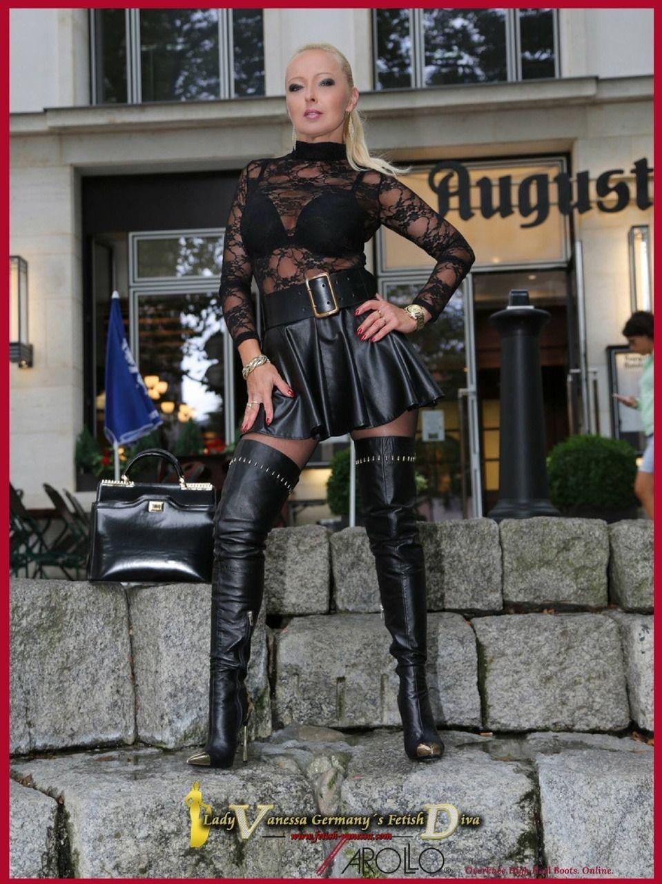 8c0bd8a9abcb8 Lady Vanessa   Bottes hautes   Lady, Leather et Boots