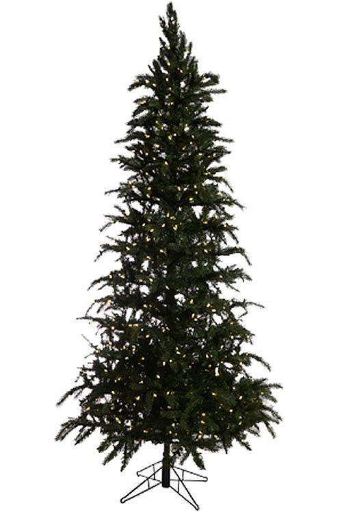 7 5 Led Easy Plug Slim Green Ridge Prelit Artificial Christmas Tree 1290 Tips Christmas Tree Artificial Christmas Tree Realistic Artificial Christmas Trees