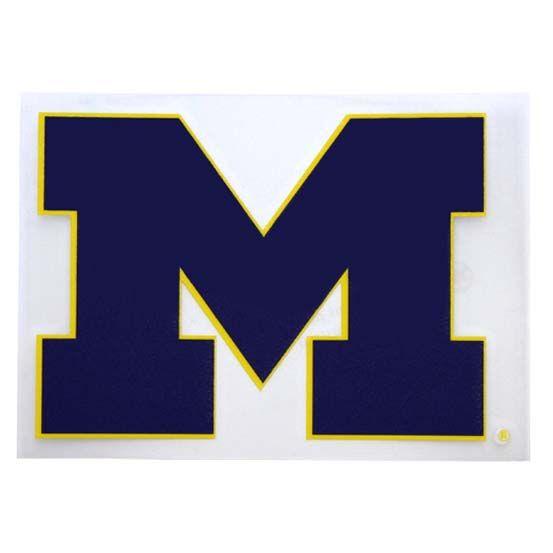 U of M University Maize and Blue Michigan College Sticker decal car laptop grad