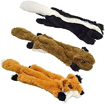 Uoliwo Stuffingless Dog Toys With Squeaker Durable No Stuffing