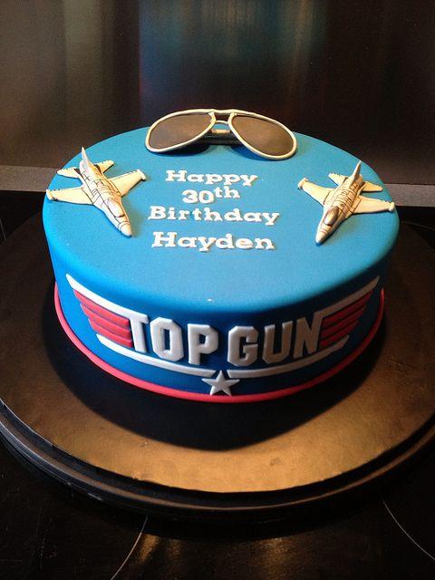 Top Gun 30th Birthday Cake In 2019 Yummy Stuff