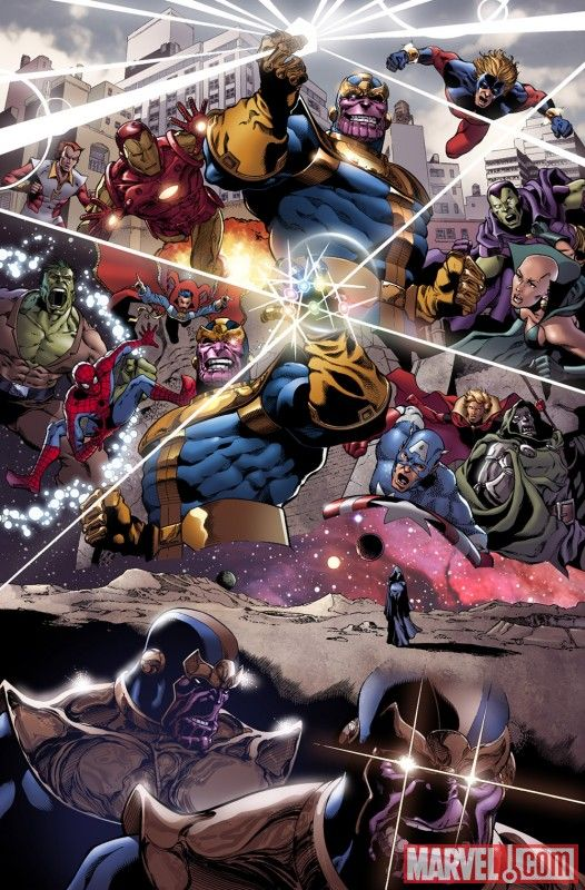 ... Thanos, Adam Warlock, Drax, Captain America, Starfox, Captain Marvel
