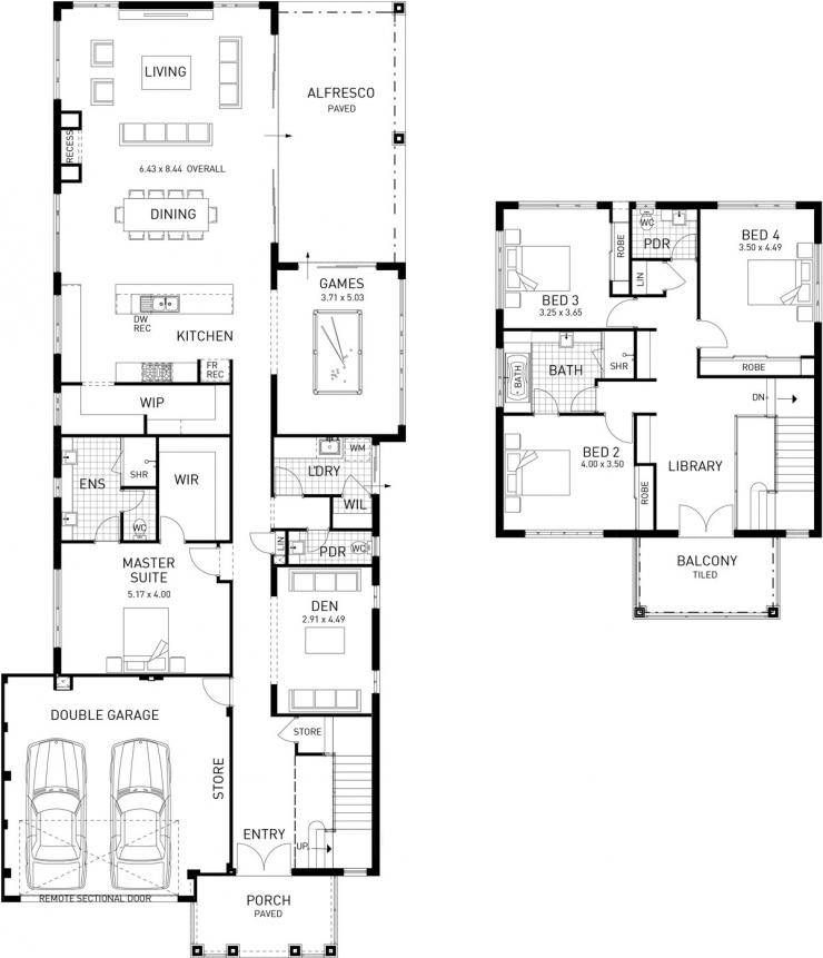 The Princeton Four Bed Two Storey Home Design House Design Craftsman Floor Plans Craftsman House Plans