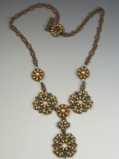 Chantilly Necklace Kit - Bronze/Green