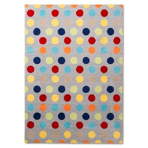 Pillowfort Dots Area Rug Multi 5 X 7 Rugs Pillow Fort