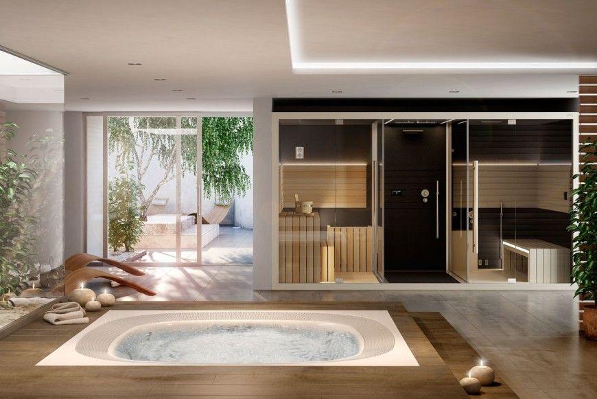 Vasca Da Bagno Esprit : Render d vasca idromassaggio jacuzzi privat wellness oase in