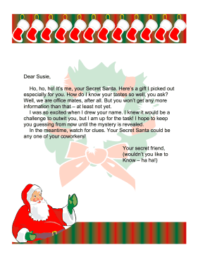 secret santa letter office printable letters from santa free to download and print see moer