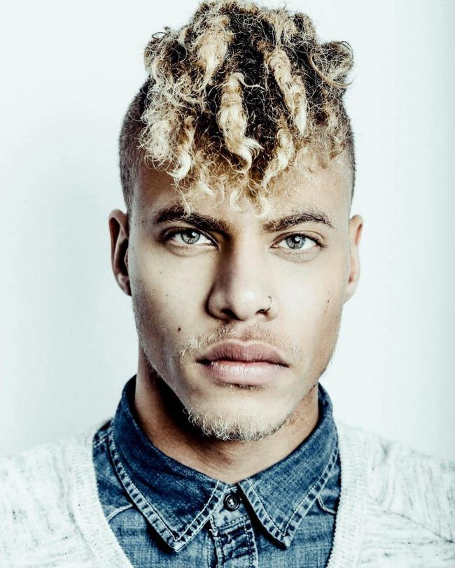 Character Male Mixed Dreadlocks Blond Hair Undercut Stubble