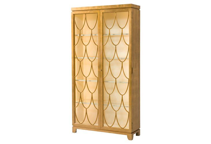 """Preview 81"""" Cabinet, Gold"""