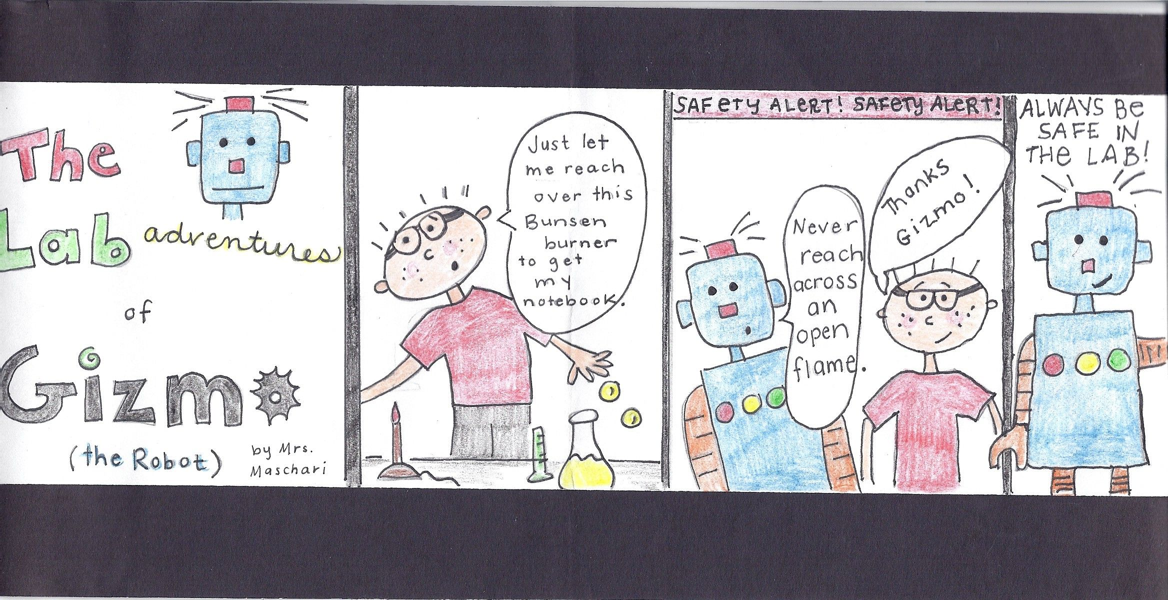Have Students Make Comic Strips For Different Lab Safety