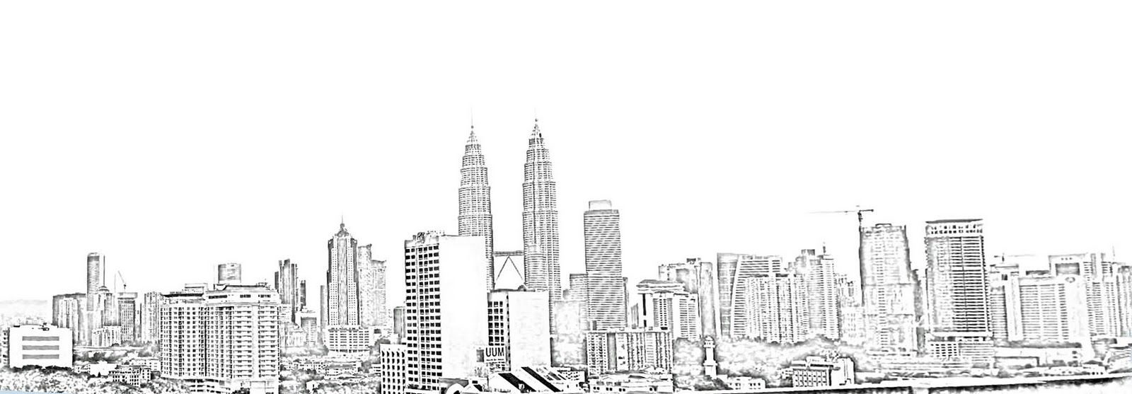 city skyline sketches - photo #12