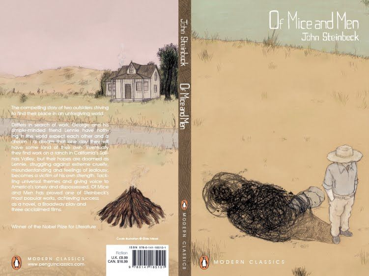 of mice and men book cover of mice and men book  of mice and men themes essay of mice and men book cover