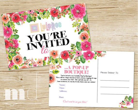 Pop Up Boutique Invitation, Pop Up Party Invite, Custom LLR Event - best of sample invitation via email