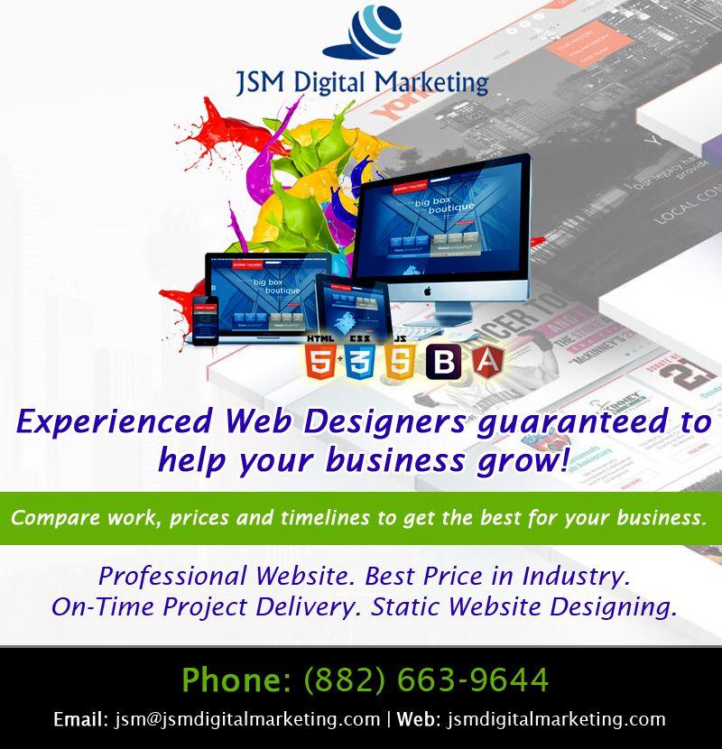 Pin By Jsm Digital Marketing On Web Design Professional Website Web Design Digital Marketing