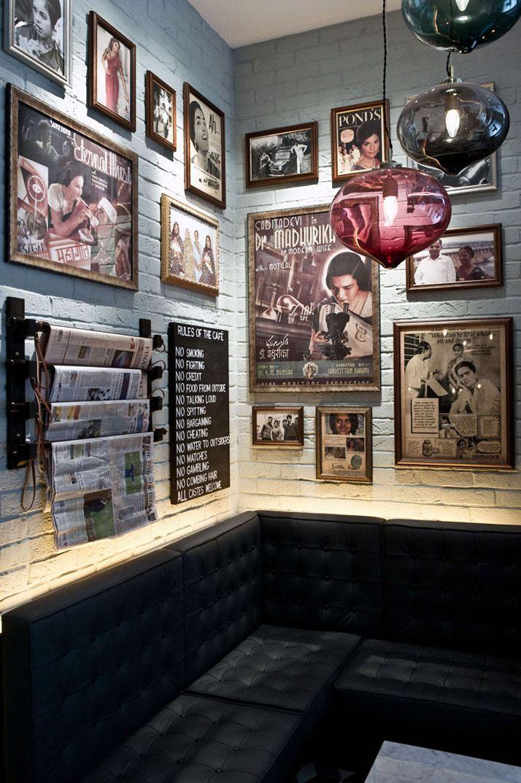 Dishoom The first UK Bombay Café Cafe design, Bar