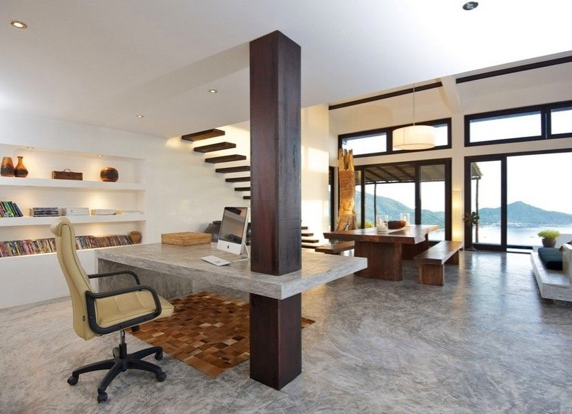 Presenting 30 Beach Style Home Office Design Ideas In 2020 Modern Home Offices Home Office Design Modern House Design
