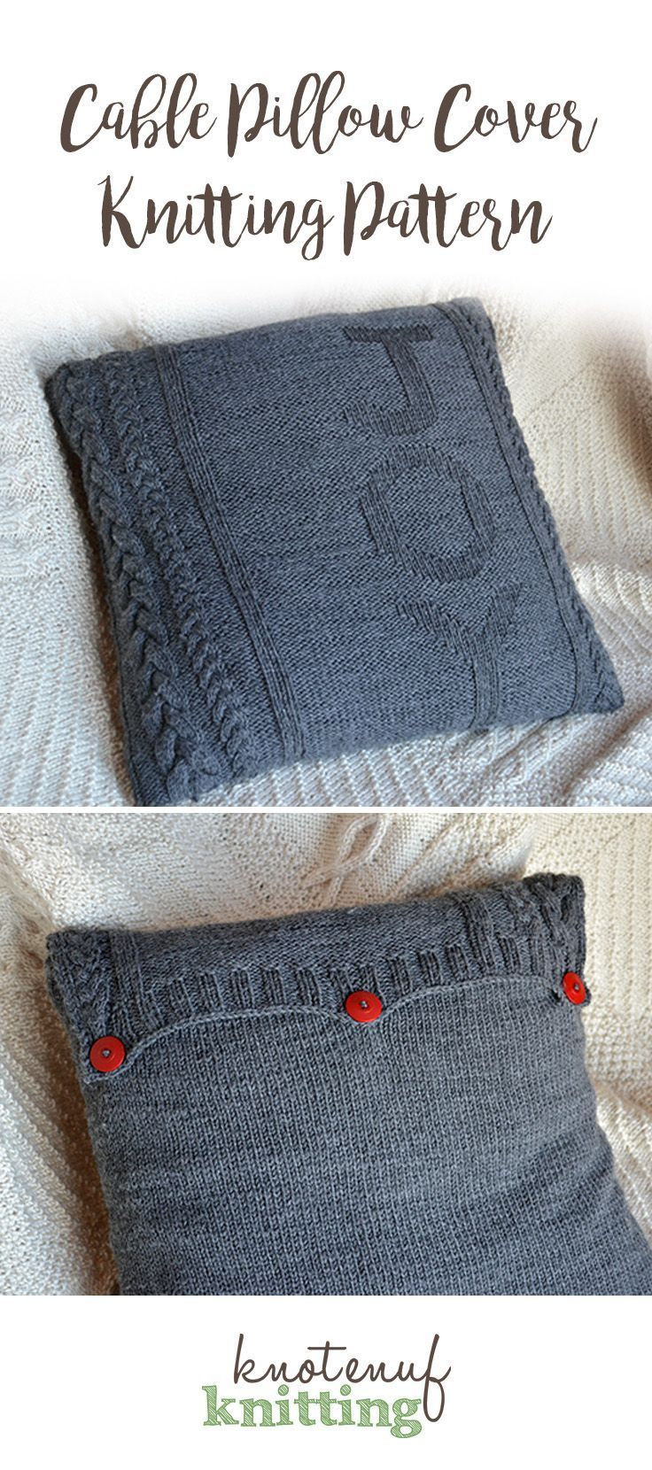 Here's a cute knitting pattern for a festive Christmas throw pillow cover. The