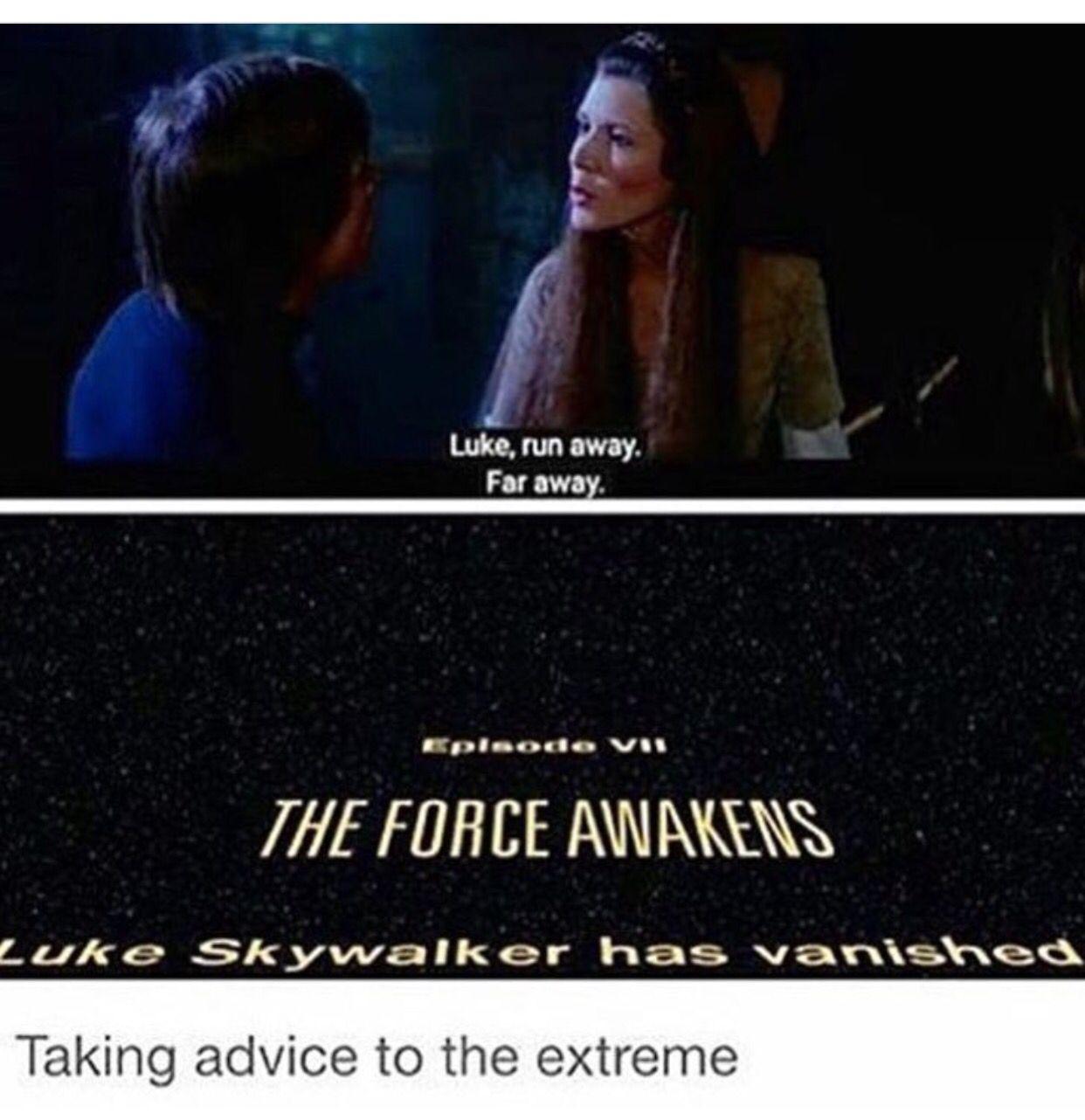 Luke Skywalker Meme By Missagent E On Pinterest Meme Memes Teenagerposts Sorelatable Truths Sta Star Wars Humor Star Wars Memes School For Good And Evil