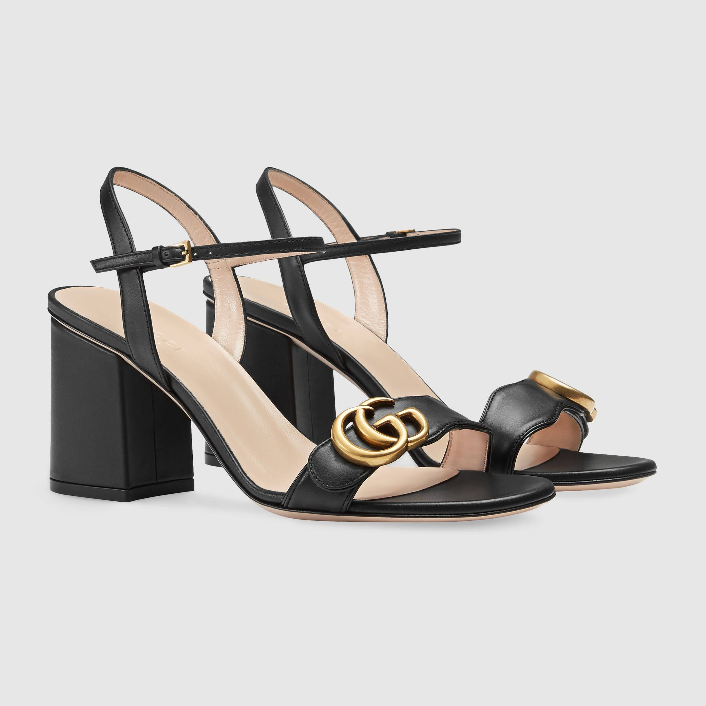 1fe13590492 Gucci Leather mid-heel sandal Detail 2