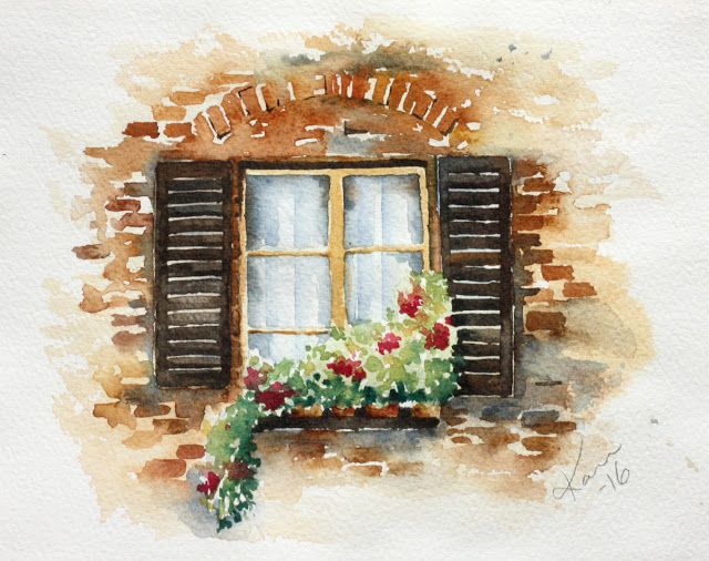 My Watercolors Watercolor Architecture Watercolor Art Art Painting