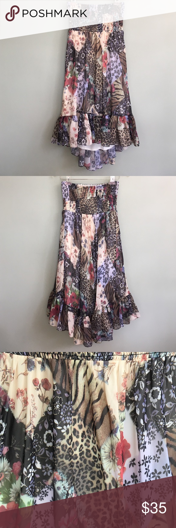 Boston Proper Halter Dress Hippy Hippie Boho Like New