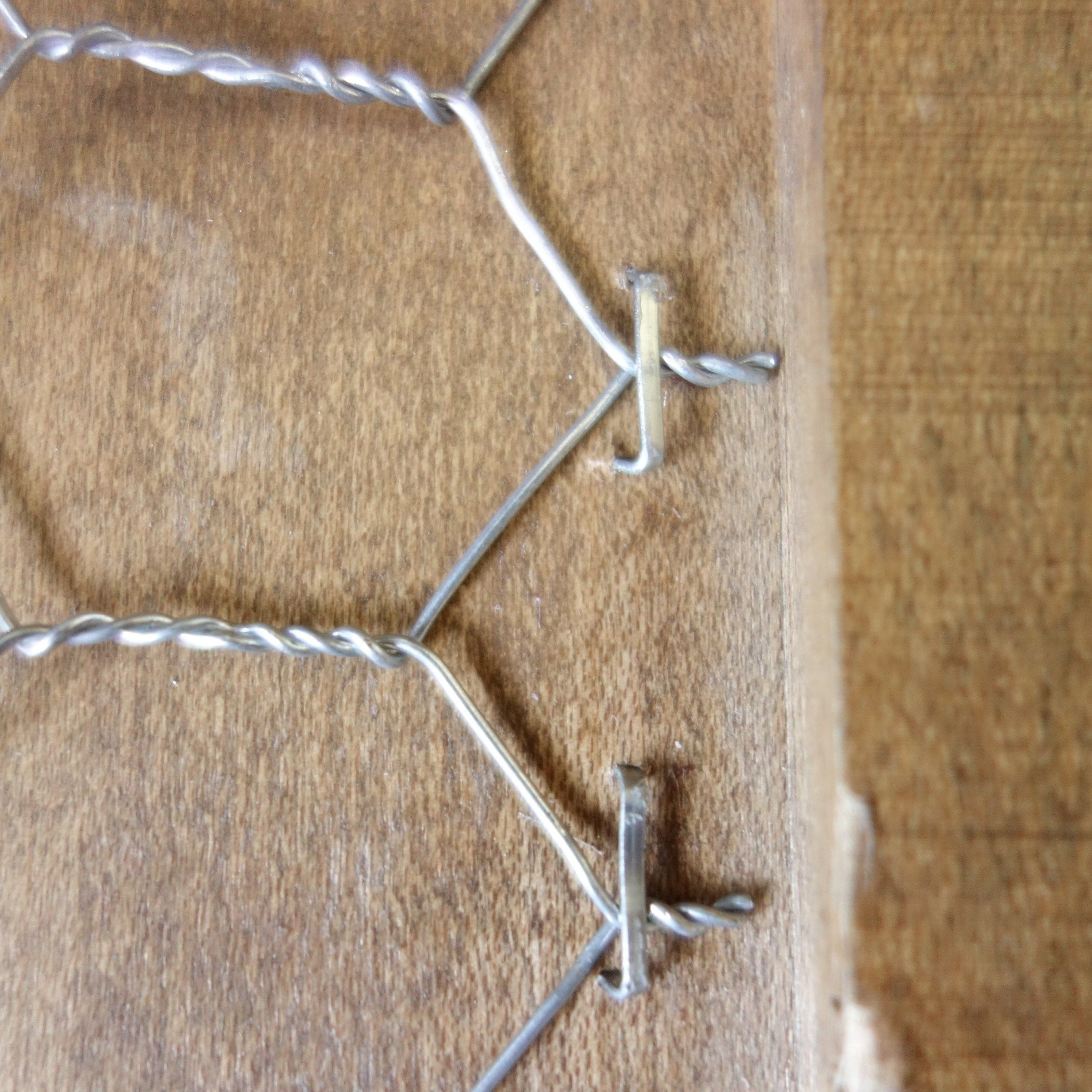 How to install chicken wire into the hutch doors or frames, tutorial ...