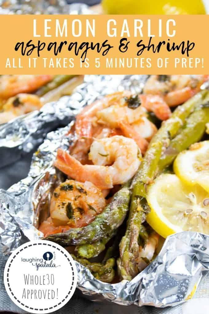 30 Minute Lemon Garlic Asparagus and Shrimp images