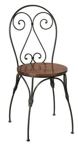 wrought iron chair walmart camping chairs folding metal bistro cafe steel hand forged