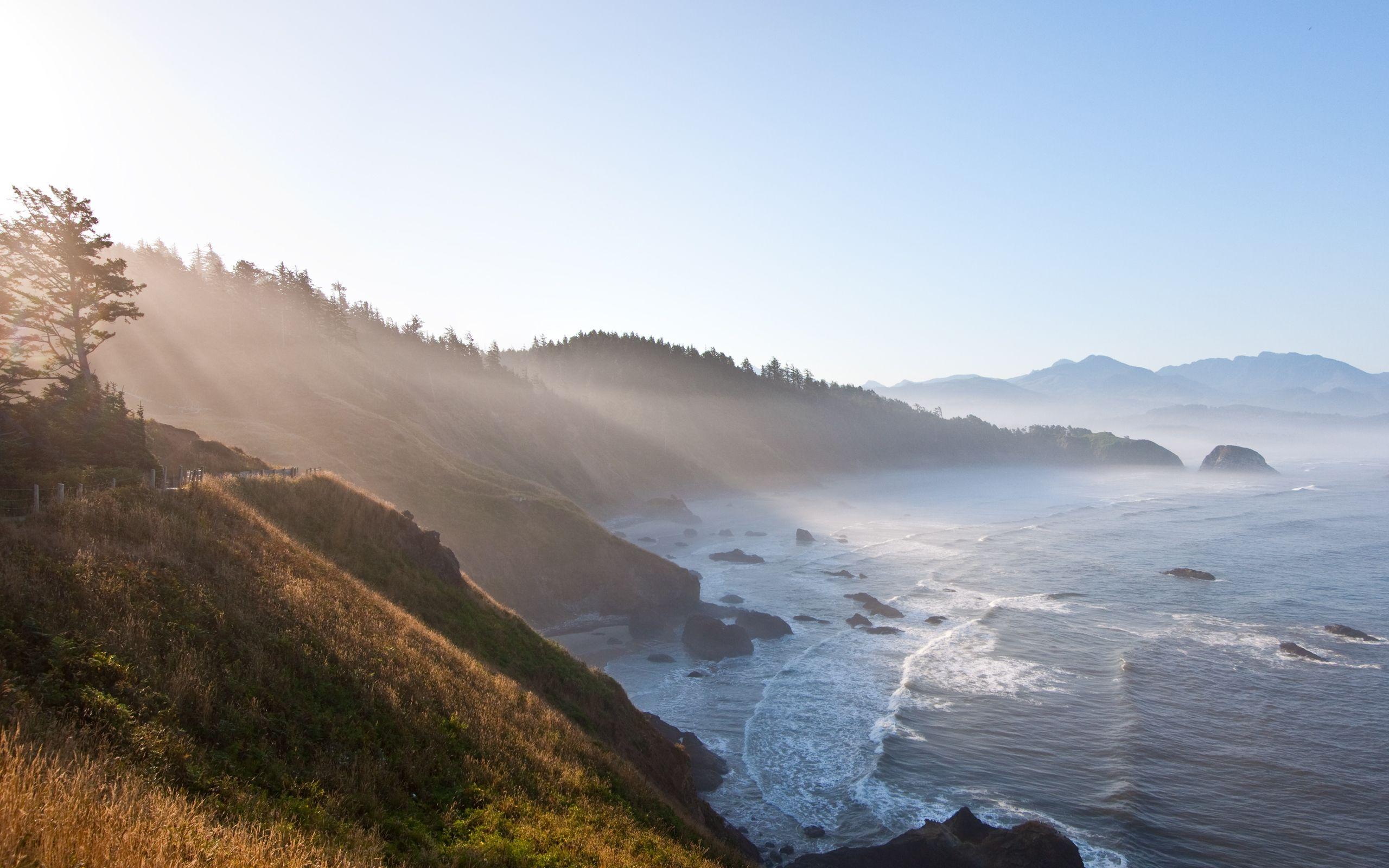 Обои утро, побережье. Пейзажи foto 13