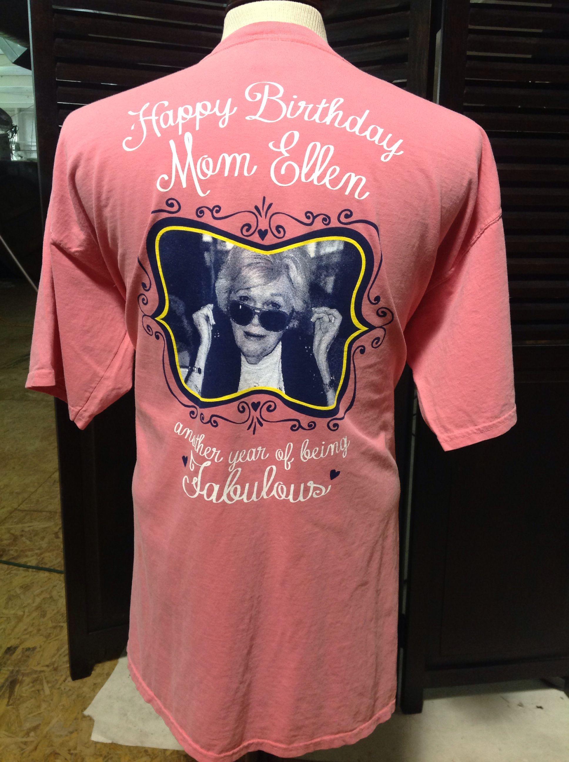 University Of Arkansas Tri Delta Happy Birthday Mom Ellen Comfort Colors T Shirt TriDelta TriDelt DeltaDeltaDelta ComfortColors GreekLife